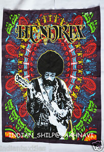 """30""""X40"""" Jimi Hendrix Guitar Cotton Wall Hanging Tapestry Poster Multicolor art"""