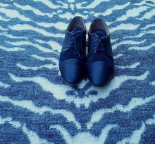 PIER ONE navy blue brogues/ shoes size UK 6, EU 39