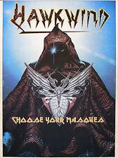 Hawkwind 1982 Original Choose Your Masques Tour Program U.K.