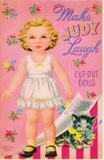 Vintage Uncut 1952 Make Judy Laugh Paper Dolls~#1 Reproduction~Rare Set~Pretty