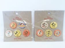 Disney Mickey Mouse Junk Food 5 Buttons set - 2 pack New Retail Exclusive 90th