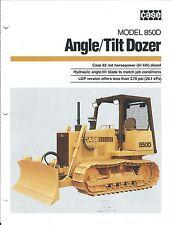 Equipment Brochure - Case - 850D - Angle / Tilt Dozer - c1988 (E3711)