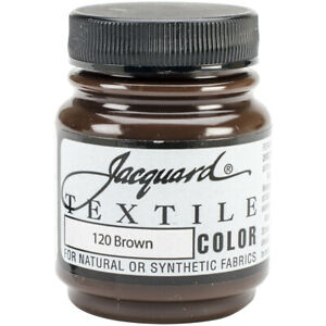 Jacquard Textile Color Intense and semi-opaque Fabric Paint 2.25oz-Brown