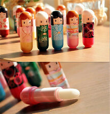Set of 3 Brand New Lovely Cute Japanese Kimono Girl Doll Beauty Makeup Lip Balm