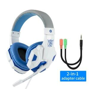 Wired Gaming Headphones Gamer Headset for Computer PS4 PS3 with Mic Backlight
