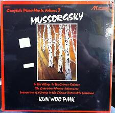 KUN WOO PAIK mussorgsky complete piano music vol 2 LP Sealed ARABESQUE 8093