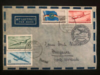 1956 Dresden East Germany DDR First Day Cover # 280-283 Lufthansa FDC to Poland