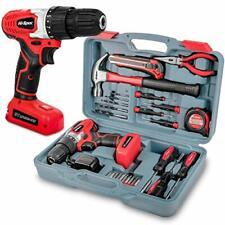 26 Piece Household DIY Tool Kit Set with 8V 1300mAh Li-Ion Drill