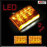 2 Pcs 27 Led Side Marker Lights Indicator Lamps Amber Truck Lorry Bus 12 Volts
