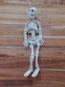 1:12 Dolls House Miniature '9cm Halloween Hanging Dangle 3D SKELETON Decoration'