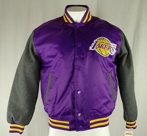 Los Angeles Lakers NBA Majestic Men's Snap Up Bomber Jacket