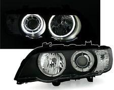 BMW X5 E53 ANGEL EYE D2S XENON HEADLIGHTS HEADLAMPS 5/2000-11/2003 WHITE RINGS