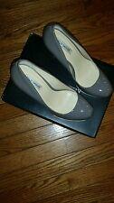 Kelsi Dagger  Linzi gray soft patent  leather  size 8.5m
