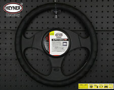 PREMIUM CAR STEERING WHEEL COVER 37-39cm BLACK DOTTED Soft DESIGN from HEYNER®