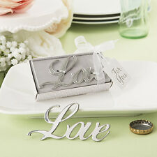 1 Love Themed Metal Bottle Opener Wedding Favor Drink Reception Gift Shower