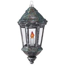 "NEW Raz 6"" Old English Lantern Lamp Post Glass Christmas Ornament 3853008"