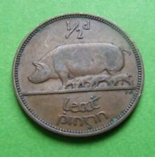 Ireland 1942 Irish Half Penny Coin Nice Example With Sharp Details Old Vintage