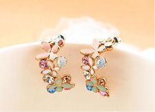 Fashion Jewelry Women Colorful Crystal Rhinestone Noble Ear Stud Earring C436-2