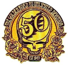 GRATEFUL DEAD Golden Road 50th Anniversary IRON ON PATCH Gold 4312 free shipping