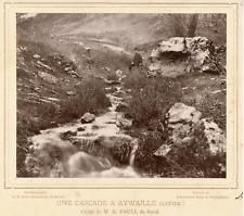 Pauli R., Belgique, Aywaille, province de Liège, une cascade  Vintage albumen pr