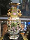 ancien vase chinois porcelaine signé personnage peint dorés chine china chinese
