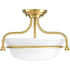 Progress Lighting Tinsley Collection 2-Light Brushed Bronze Semi-Flush Mount