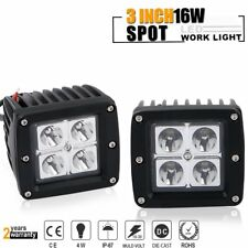 Pair 3Inch 3x3 16W Cube Pod Led Work Light Spot Beam for Off Road Jeep JK ATV