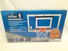 New! Spalding Nba Slam Jam Over-The-Door Mini Basketball Hoop, Bnib, 1/4 Scale