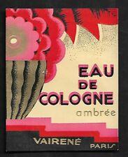 Etiquette Parfum   SUPERBE      Dim    7,5   X    8,5  Cm
