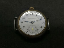 Old Enamel Dial Watch TAVANNES WATCH COMPANY Black Case for parts / repair
