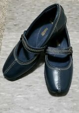 Clarks Collection 7 Soft Cushion Navy Blue Slip On Comfort Mary Jane Shoes