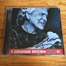 T. Graham Brown – Lives CD (2001, TimeRiver Records) [AUTOGRAPHED]
