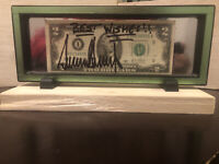 Donald Trump Signed $2 Bill Full Signature Autograph Rare Inscribed Best Wishes