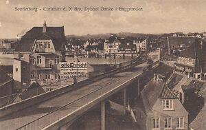 Ansichtskarte Dänemark  Sonderborg Christian d. X Bro, Dybbol Banke i Baggrunden