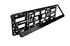 Easy Change Number Reg Plate Surround Holder Black Plastic Show Plates & Trailer