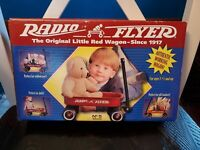 Vintage Radio Steel Flyer Line Small Miniature Toy Wagon Mini RedNo 5 NIB