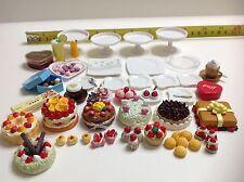 Dollhouse Miniature Beautiful Assorted Cake Pastries Bakery n Drinks Set 1:12
