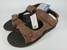 Men's New Balance 11W 4E Recharge Sandals Pure Align brown strap hook loop A2