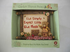 Garden Thyme Bears Wall Tile Live Simply Expect Little Give Much New In Box