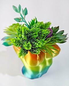 Female Nude Chest Planter Succulent Pot Torso Bust Vase 3D Flowerpot Rainbow New