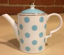 Grace's Teaware Baby Blue Polka Dot Coffee Tea Pot