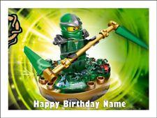 LEGO GREEN NINJAGO A4 (25.5cm x 19cm) EDIBLE ICING IMAGE CAKE TOPPER
