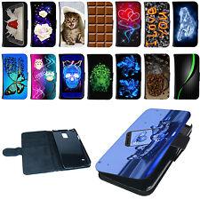 Hülle für Samsung Handy Tasche Schutzhülle Design Flip Case Cover Etui Motiv