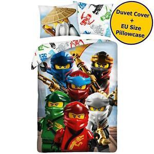 Lego Ninjago Wu Single Duvet Cover Set Cotton Bedding Reversible Euro Size