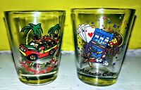 2ct Jamaica & Atlantic City, New Jersey, New Shot Glasses Lot, Collectable, Fun