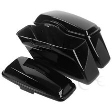 Vivid Black Hard Saddlebags Saddle Bags For Harley Davidson Touring Models 14-19