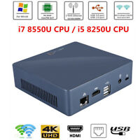 For Intel i7 8550U/i5 8250U Mini PC DIY Quad-Core 2.4/5G WiFi HDMI USB 1000M ECT