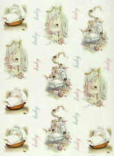 Rice Paper for Decoupage, Scrapbooking Sheet New Baby Small