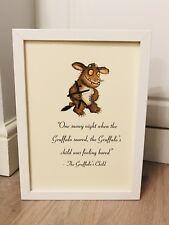 The Gruffalo's Child Julia Donaldson Quote A4 Art Print Unframed Gift Nursery *