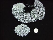 100 Large Black White Elegant Scalloped Hexagon Merchandise Price Tags W/String